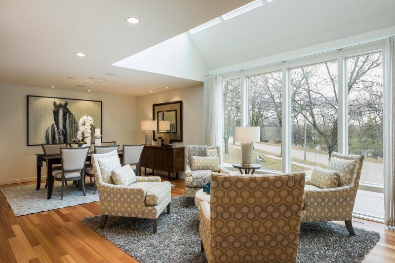 After Image - Beautifully Staged Dining & Living Room