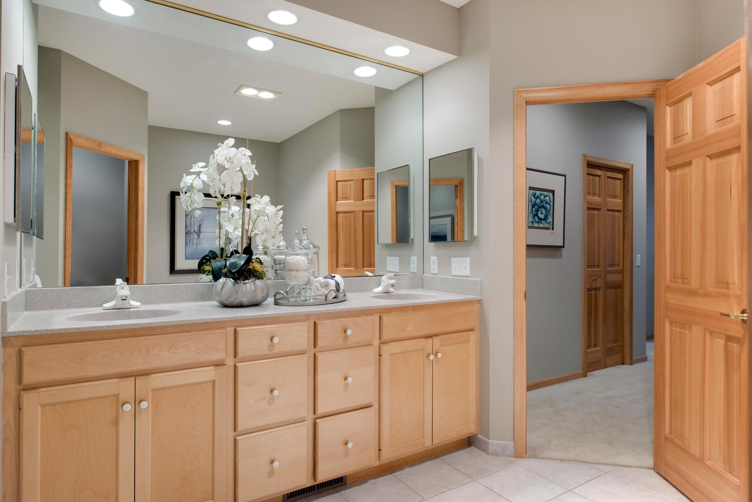 Staged Townhome Bathroom