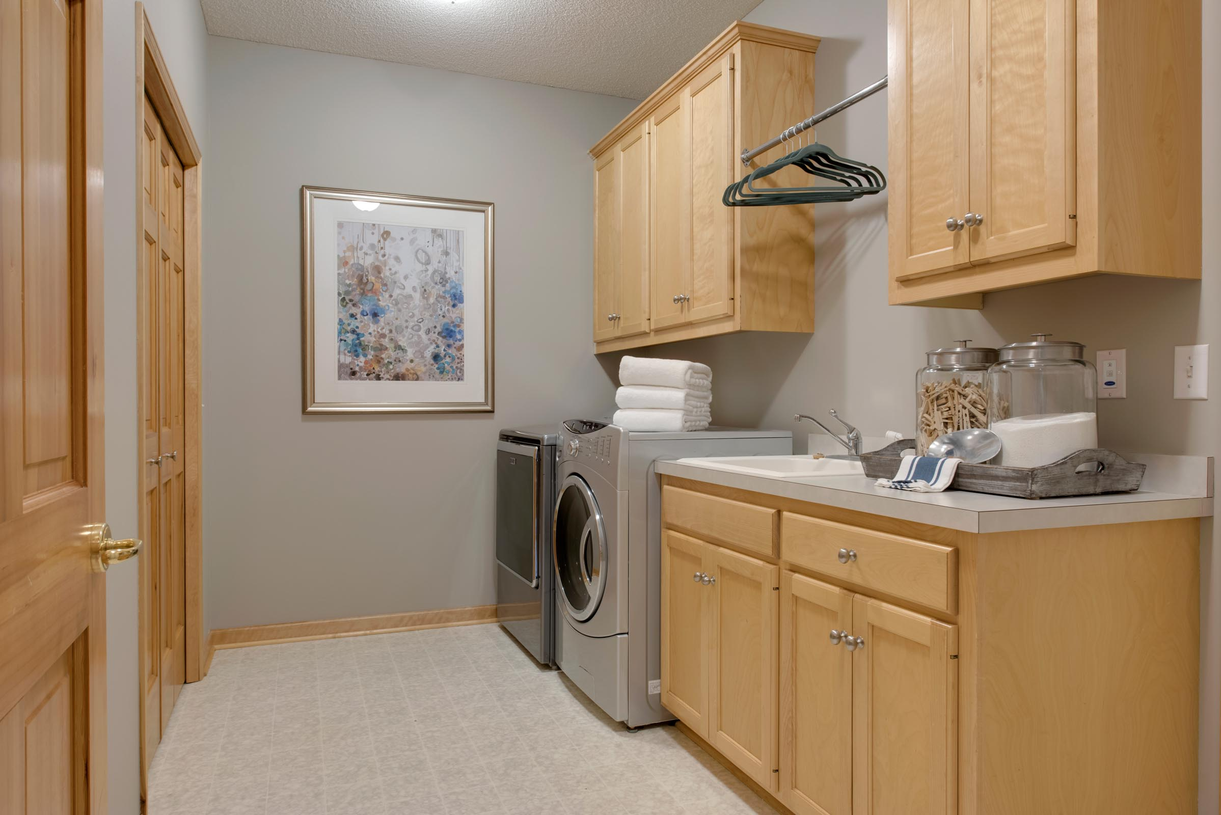 Staged Townhome Laundry