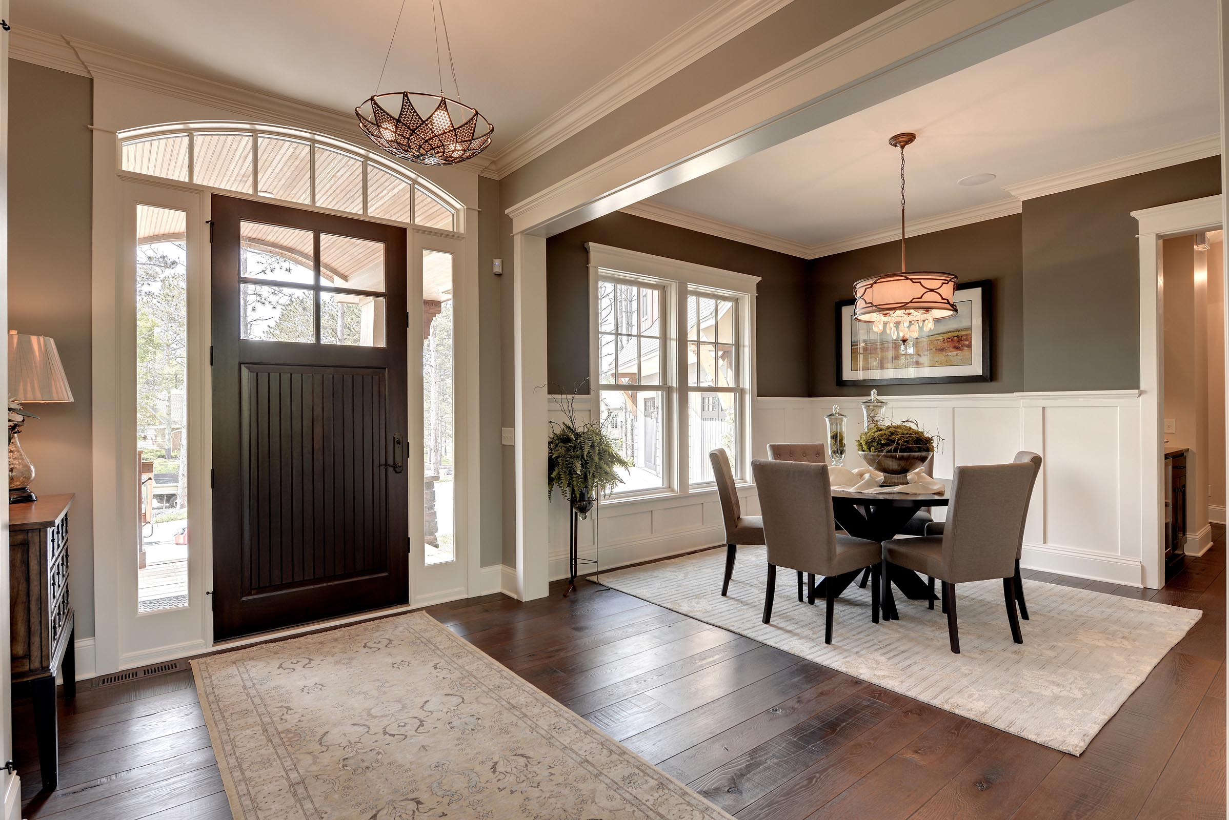 Traditional Foyer with Beautiful Home Staging