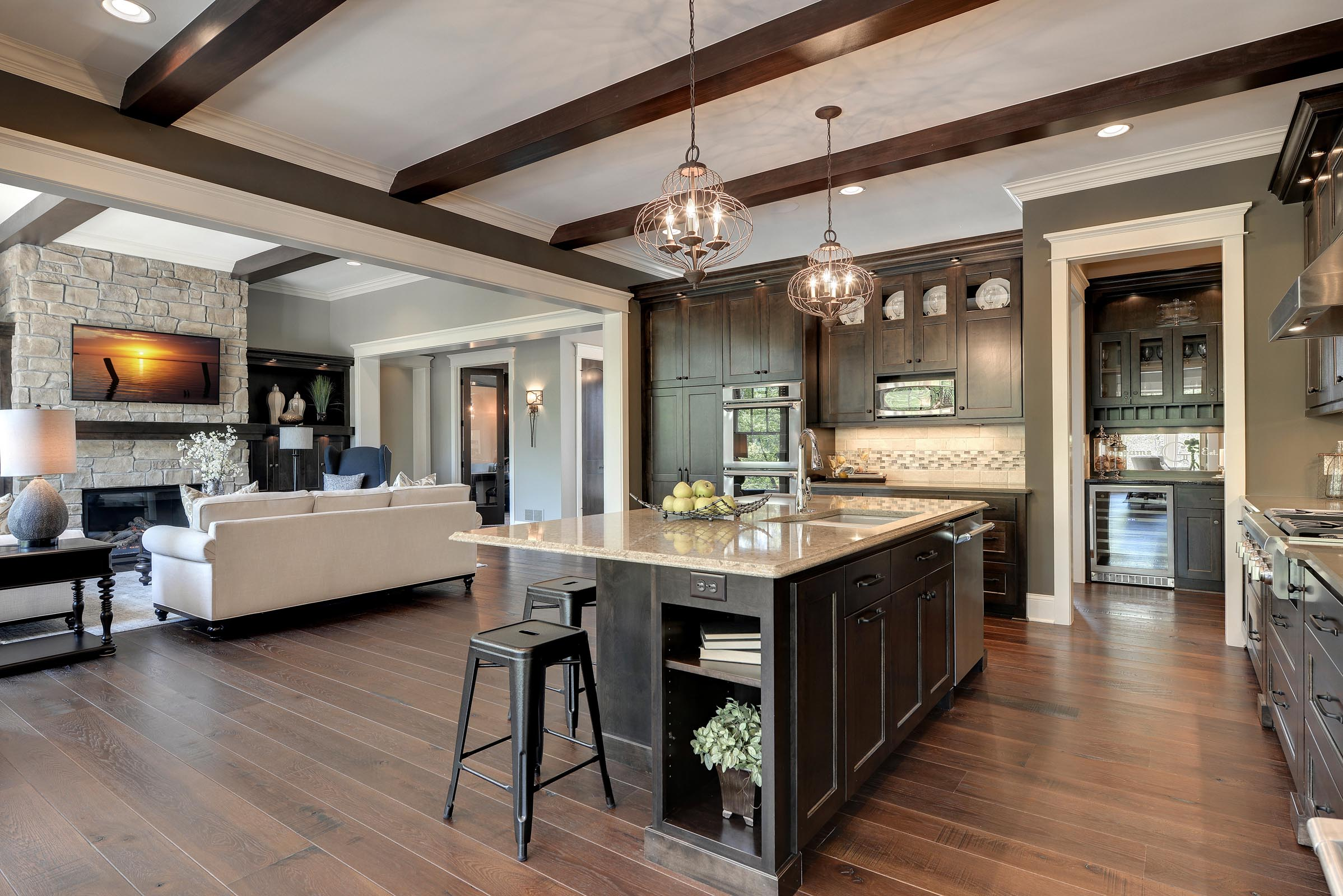 Traditional Kitchen with Beautiful Home Staging