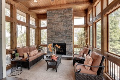 Traditional All-Season Porch with Beautiful Home Staging