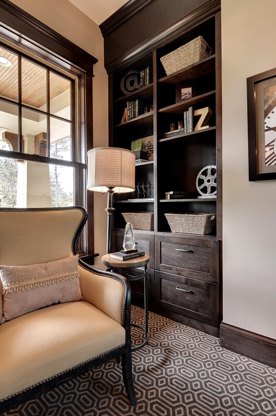 Traditional Seating Nook Detail with Beautiful Home Staging