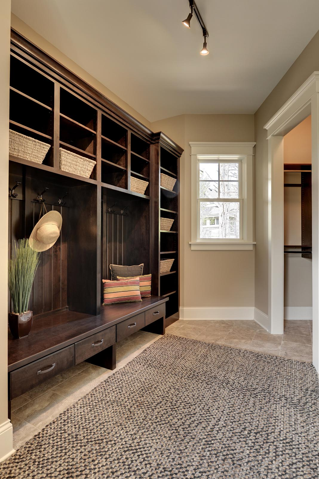 Traditional Mud Room with Beautiful Home Staging
