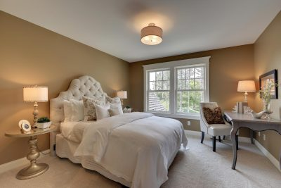 Traditional Bedroom with Beautiful Home Staging