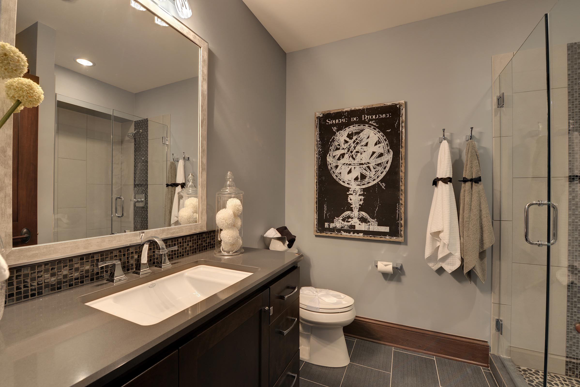 Traditional Bathroom with Beautiful Home Staging