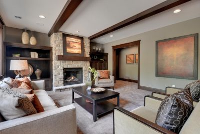 Traditional Basement with Beautiful Home Staging
