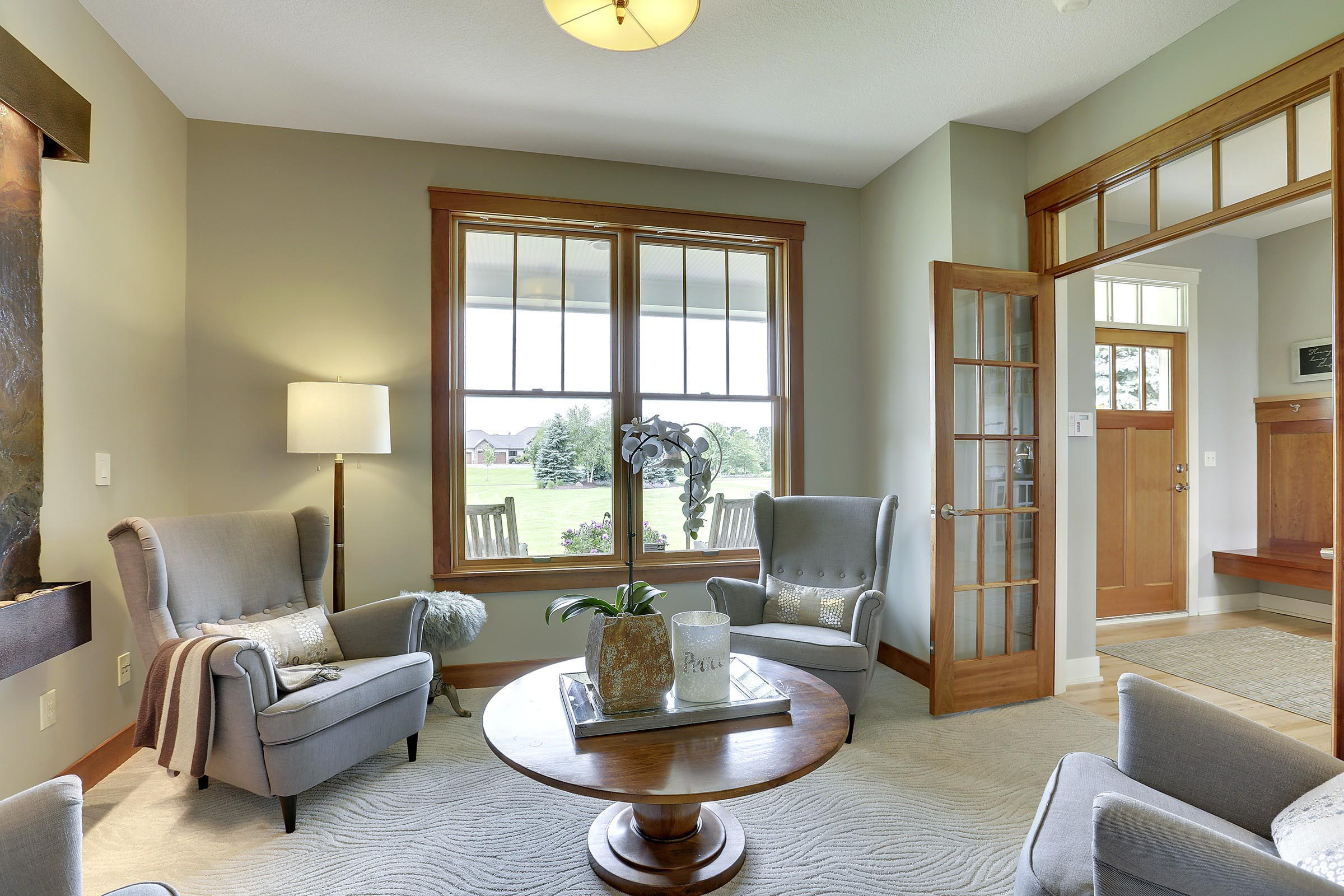Craftsman Home Staging Sitting Room MN