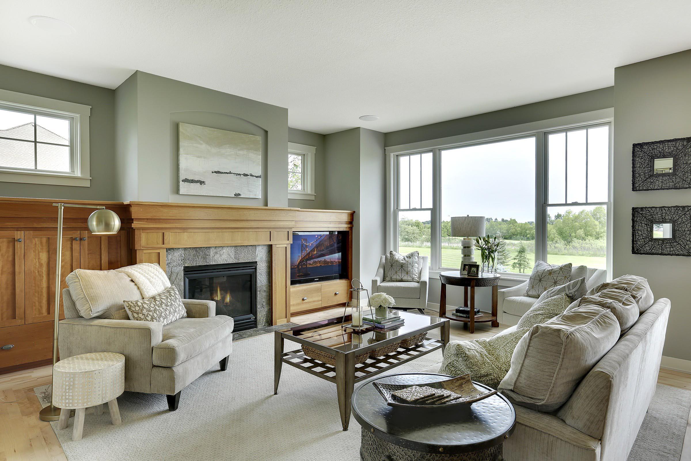 Craftsman Home Staging Living Room MN