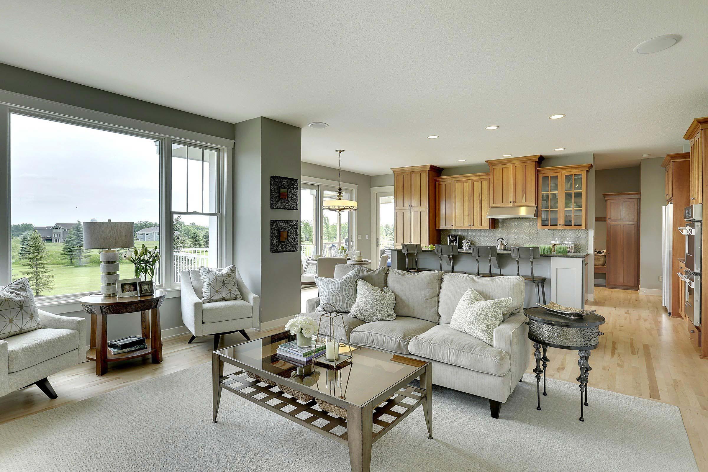 Craftsman Home Staging Open Plan MN