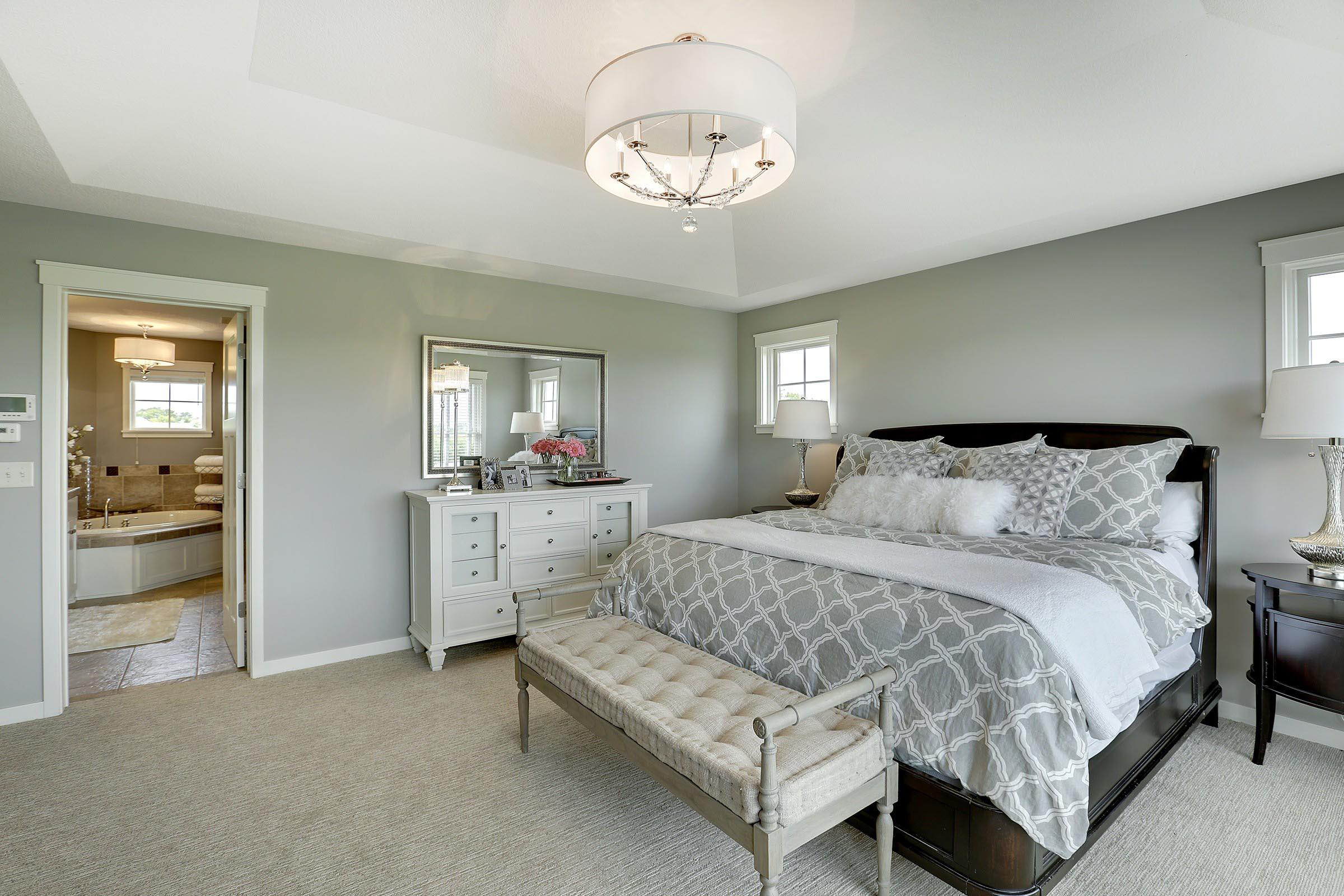 Craftsman Home Staging Master Bedroom MN