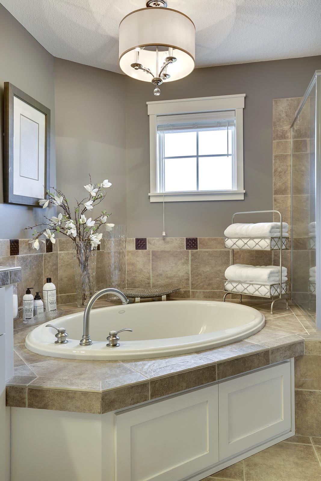 Craftsman Home Staging Master Bath MN