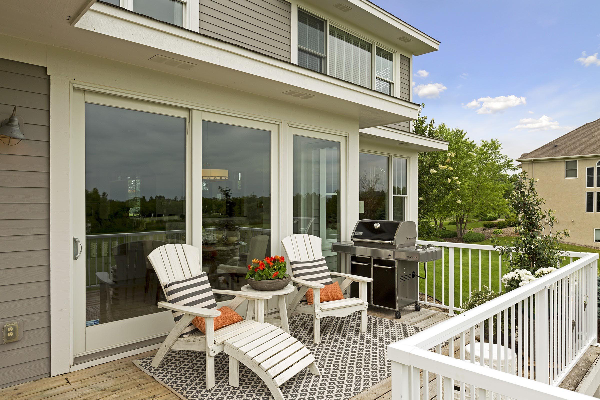 Craftsman Home Staging Outdoor Deck MN